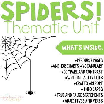 Spider Unit Activities