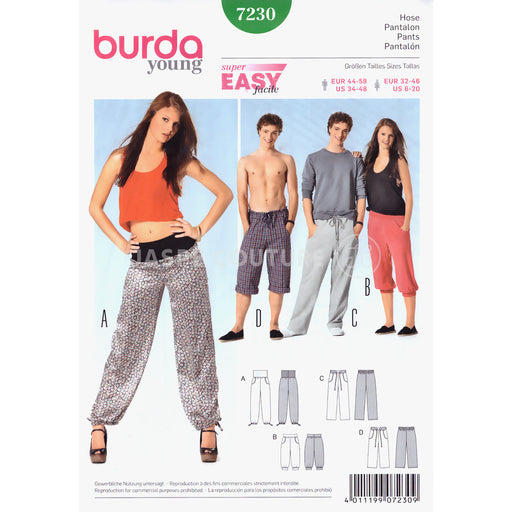 Patron de couture pantalon jogging Burda 7230
