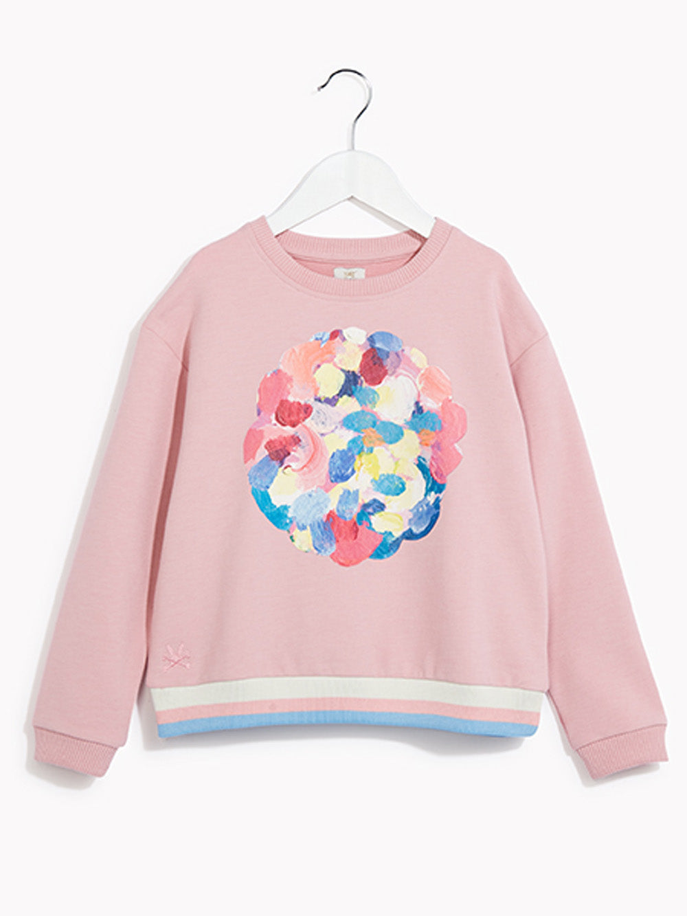 Girls Pretty Pink Sweater Top - Kids Long Sleeved Jumper Vote Haute Rose Quartz Marl Sweat Top