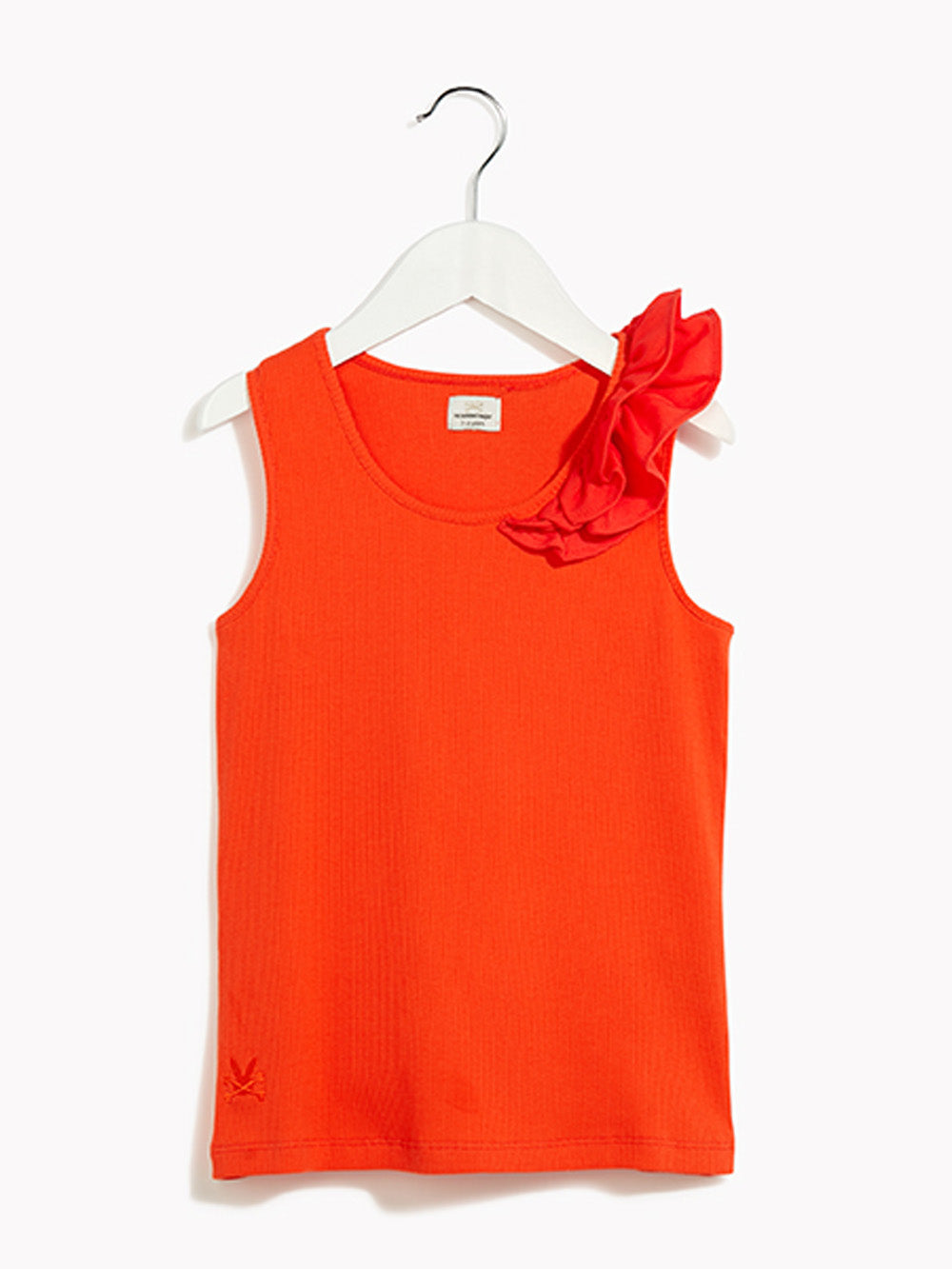 Girls Vest Top - Kids Maquette Chilli Heatwave Vest Top