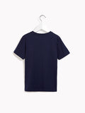 Boys or Girls Smart T-Shirt - Start Something Front Print Navy Tee