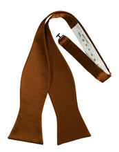 Load image into Gallery viewer, Cognac Luxury Satin Bow Tie
