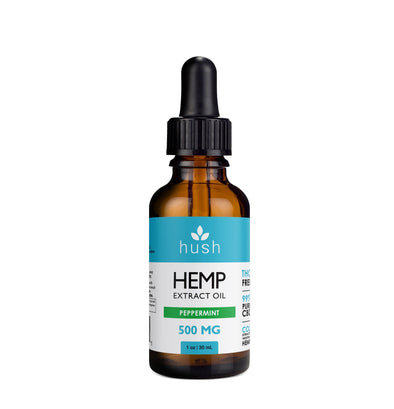 HUSH | Hemp Extract Oil Peppermint 500MG CBD Oil Hush CBD