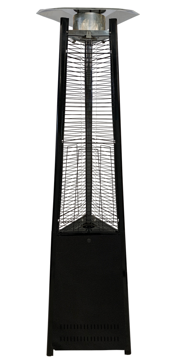 Black Tower of Fire Style Patio Heater