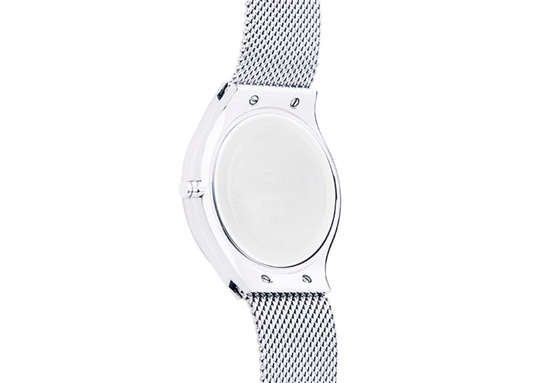 Silver Sunray Carmel Men's Watch