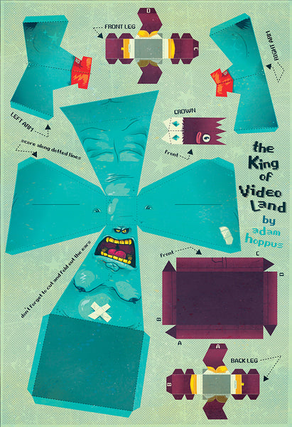 "Adam Hoppus ""The King of Video Land"" Print"