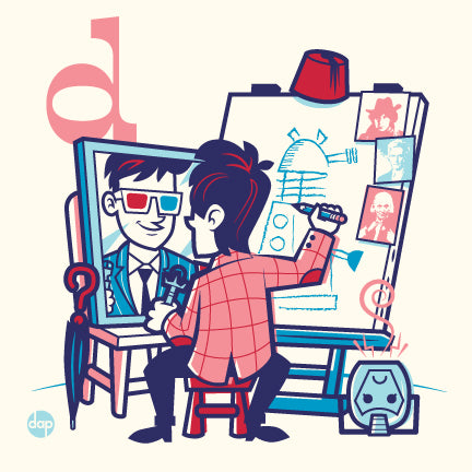 "Dave Perillo ""D is for Doodling Doctors"" Print"
