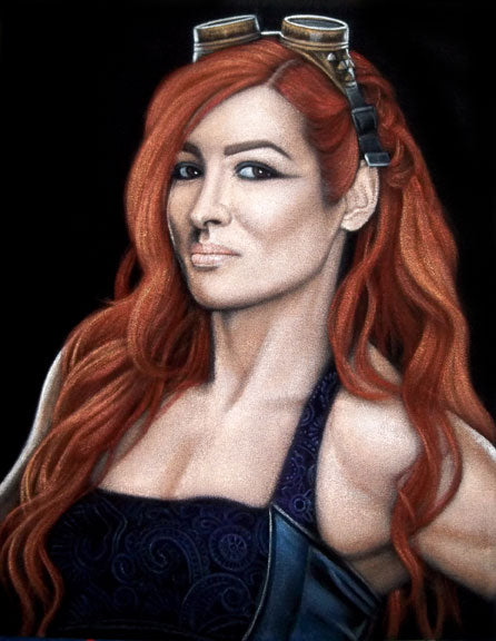 "Bruce White ""Becky Lynch"" print"
