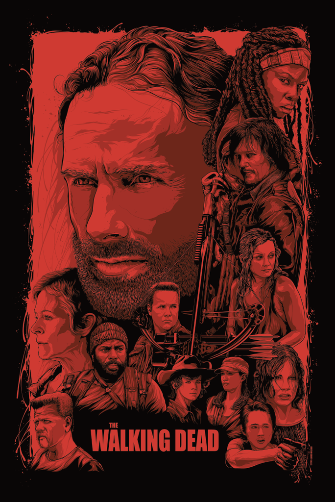 "Steven Luros Holliday ""The Walking Dead"" Print"