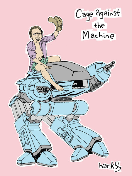 "Hanksy ""Cage Against The Machine"" Print"