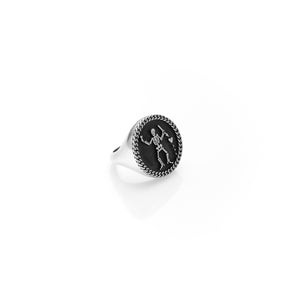 Silver Pirate Sovereign Ring