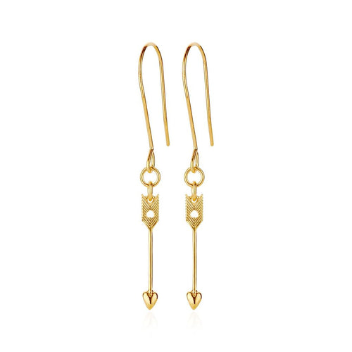 9ct Yellow Gold Arrow Earrings