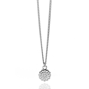 Silver Lotus Petite Necklace