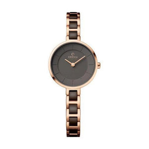 Rose Gold Tone with Brown Dial - Vind Coffee Watch