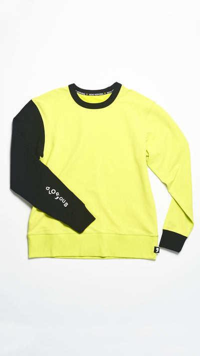COLOR-BLOCK CREW NECK SWEATSHIRT