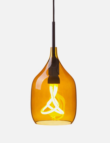 Vessel 1 Lamp Shade - Flat Cut - Bronze Glass with Plumen 001 LED E26