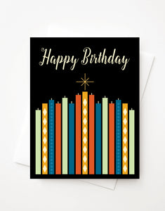 Happy Birthday, Blank A2 greeting card with envelope
