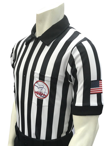 "USA100MI-607 ""BODY FLEX""  - Smitty ""Made in USA"" - Football/Lacrosse Men's Short Sleeve Shirt"