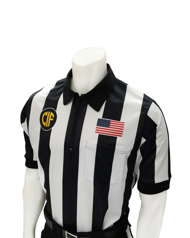 "USA137CA - Smitty ""Made in USA"" - Dye Sub Football Short Sleeve Shirt w/ Flag over Pocket"