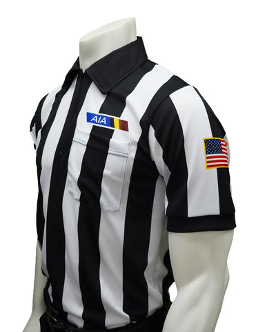 "USA140AZ-607 - Smitty ""Made in USA"" - Football ""BODY FLEX"" Men's Short Sleeve Shirt - Position Letter & Flag"