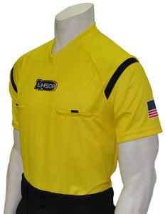 "USA900LA YW - Smitty ""Made in USA"" - Dye Sub Louisiana Yellow Soccer Short Sleeve Shirt"