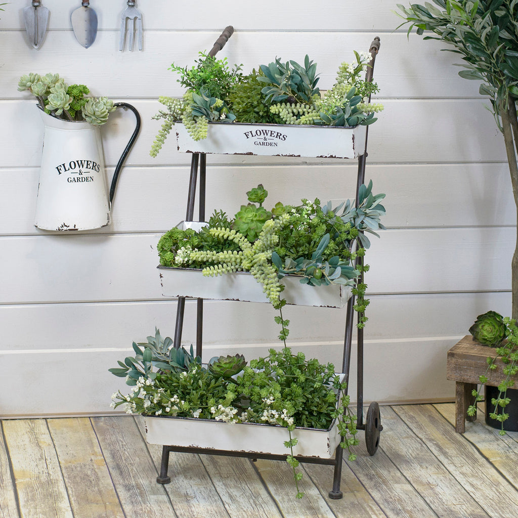 Metal 3 Tiered Planter