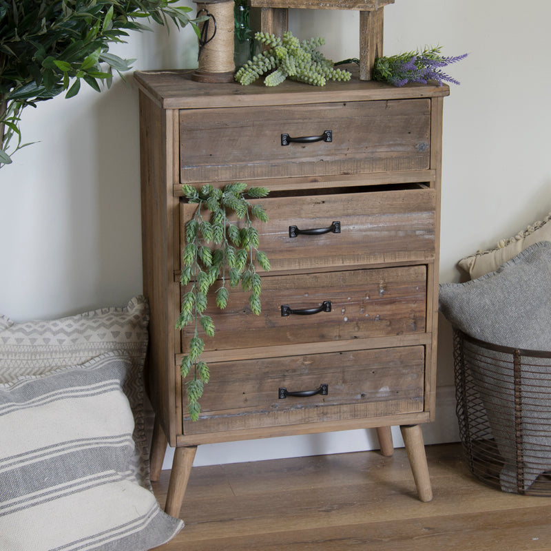 Wood 4 Drawer Cabinet