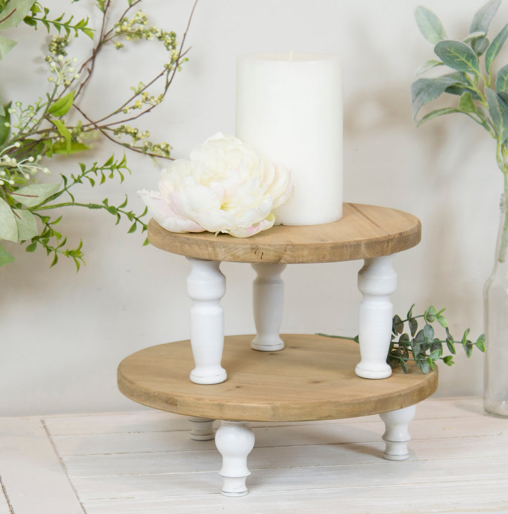 Set of two wood risers