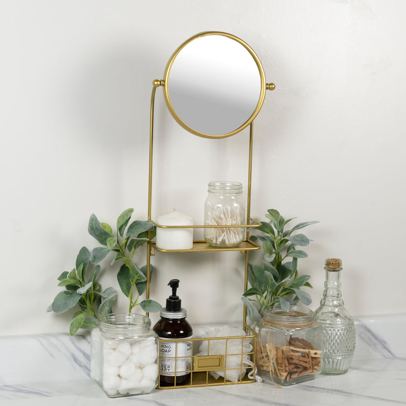 GOLD MIRROR SHELF
