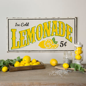 "Metal Sign ""Lemonade 5 Cents"""