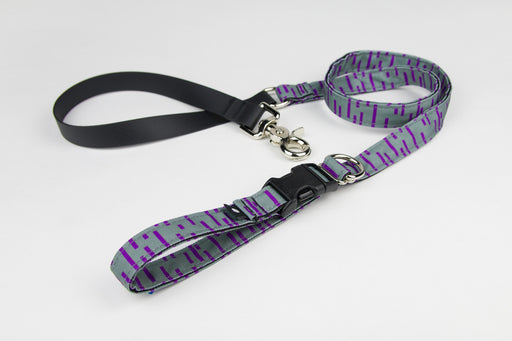 Pacifica Adjustable Dog Leash / Grey - Wildebeest