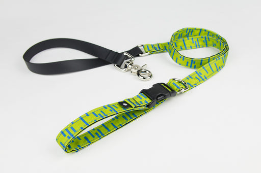 Pacifica Adjustable Dog Leash / Lime - Wildebeest