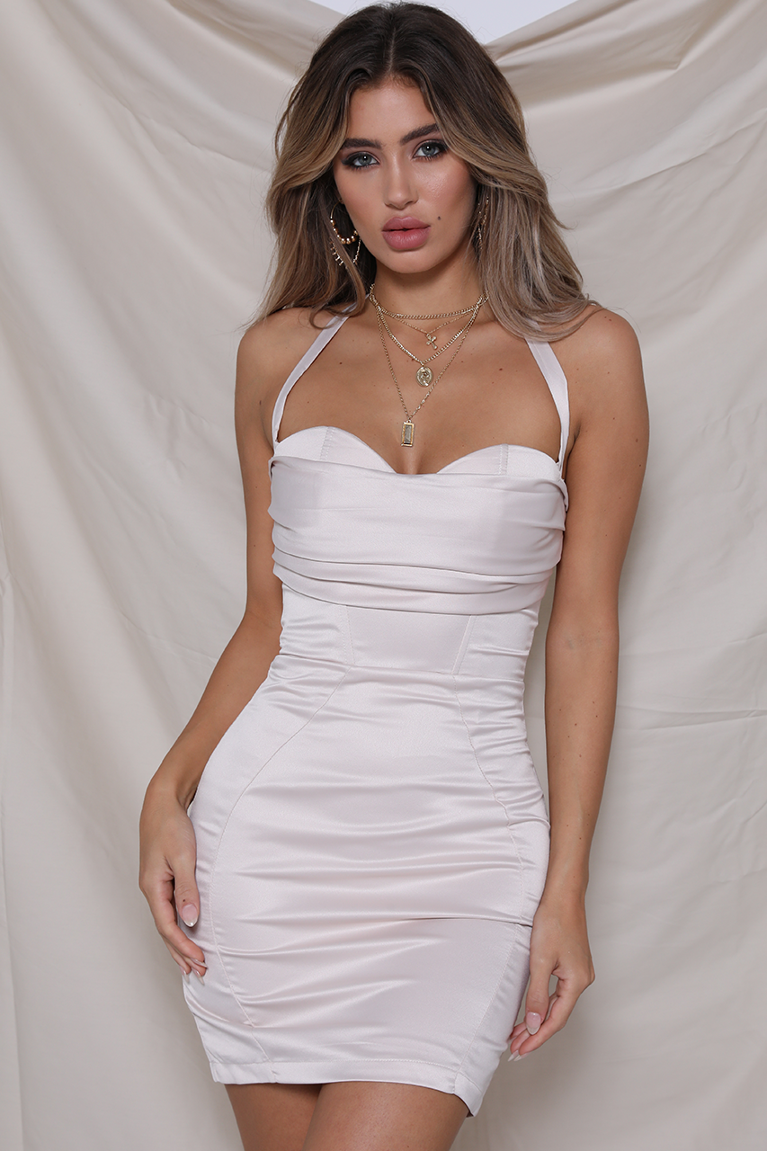 Baker Bustier Dress - Stone