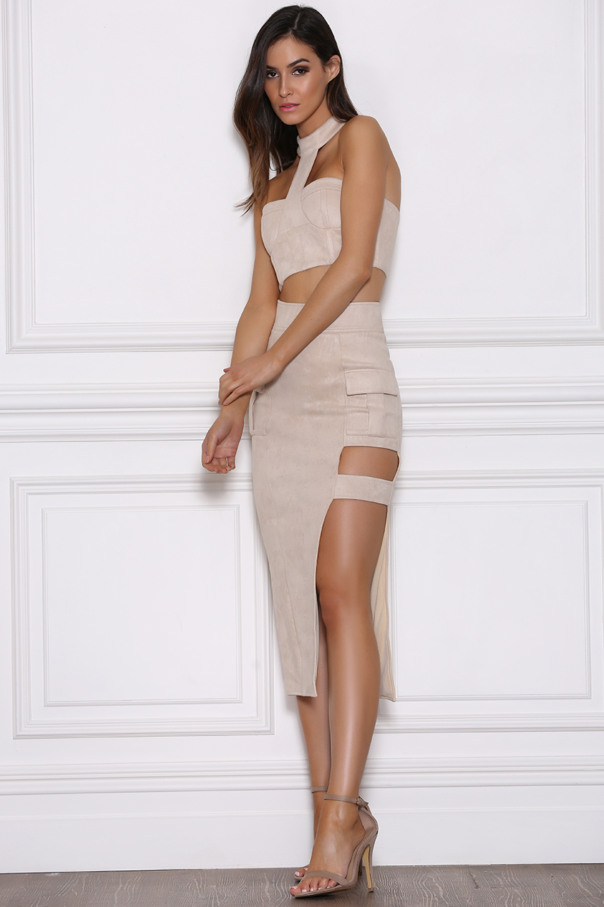 Beyonce Suede Bustier - Sand