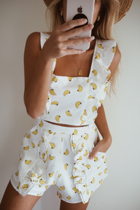 Gone Bananas Shorts - Banana Print