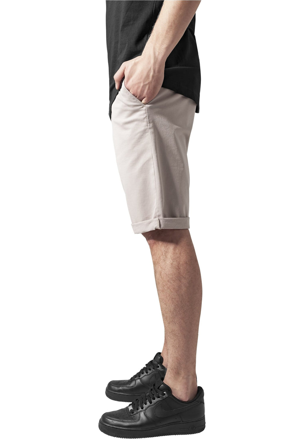 Stretch Turnup Chino Shorts - Sand