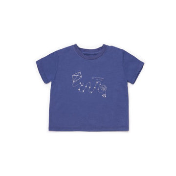 BARN OF MONKEYS KITE T-SHIRT BABY DEEP BLUE