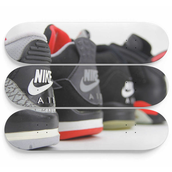 Shoes 3 Skateboards Wall Art