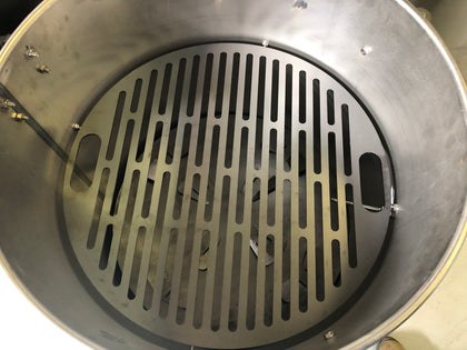 SLOTTED LASER CUT COOKING GRATE 22.5 INCHES DIAMETER, FITS 55 GALLON DRUM