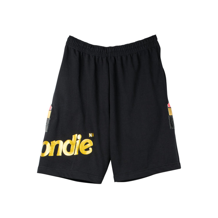 "Shorts ""Blondie Lipstick"" - black (front)"