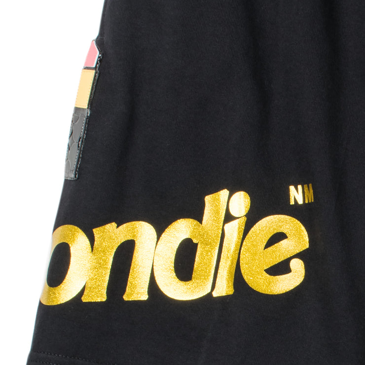"Shorts ""Blondie Lipstick"" - black (detail)"