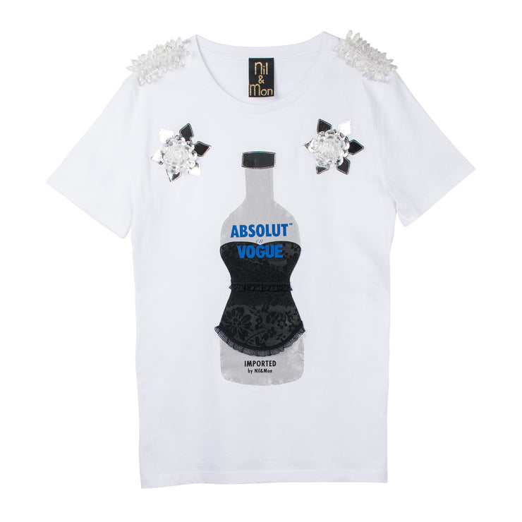 "T-Shirt ""Absolut Vogue"" - white"
