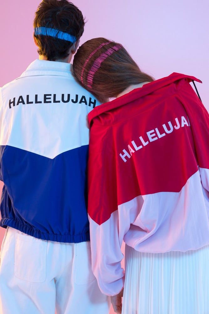 Oversized Hallelujah Color Blocked Windbreaker