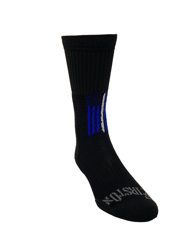 Thin White Line Crew Sock