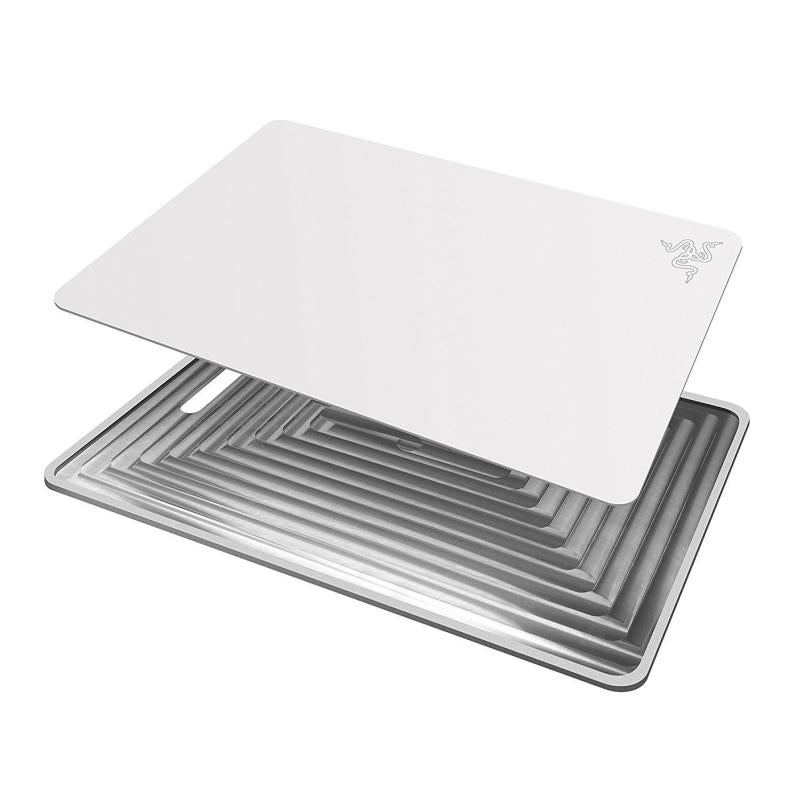 Razer Invicta Mercury White Mouse Pad - Dual Surface with Aluminium Base