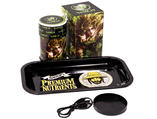 Wakit Electric Herb Grinder & Snoop's Premium Nutrients Rolling Tray Bundle - G&E Innovations Consulting LLC