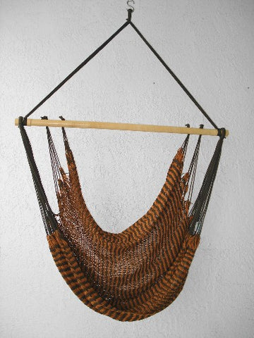 """Mombacho Chair"" - TIGER (Olive & Mustard) Hammock Chair"
