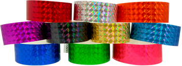 "Adhesive 1"" x 10"" Techno Solid wristbands"