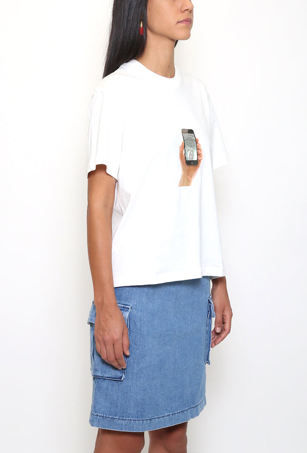 Classic Shirt with Iphone Print