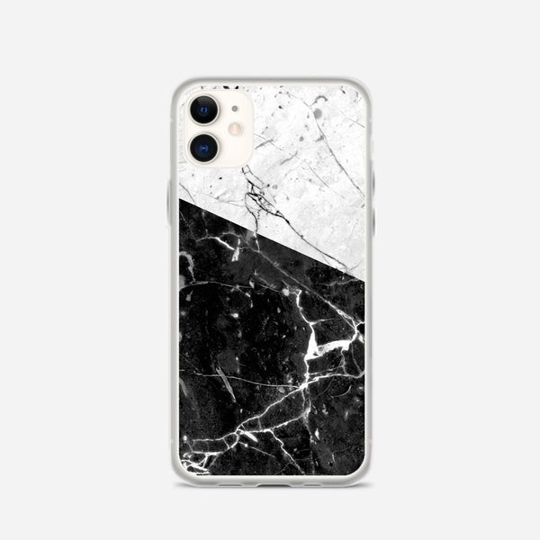 Black And White Marble iPhone X Case